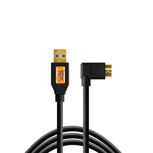 테더툴스 / TetherPro USB 3.0 SuperSpeed Micro-B Right Angle Cable [블랙]