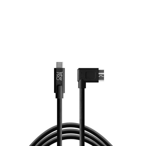 TetherPro USB-C to 3.0 Micro-B Right Angle(블랙)
